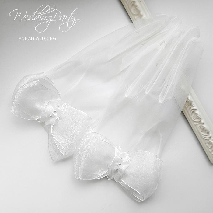 ウェディンググローブ ショートグローブ フェリシア オーガンジー グローブ サテン 人気 結婚式ウェディング H80 透け感ショートグローブ 新作通販 ショート ビッグリボンに一目惚れ 値下げ ウェディング