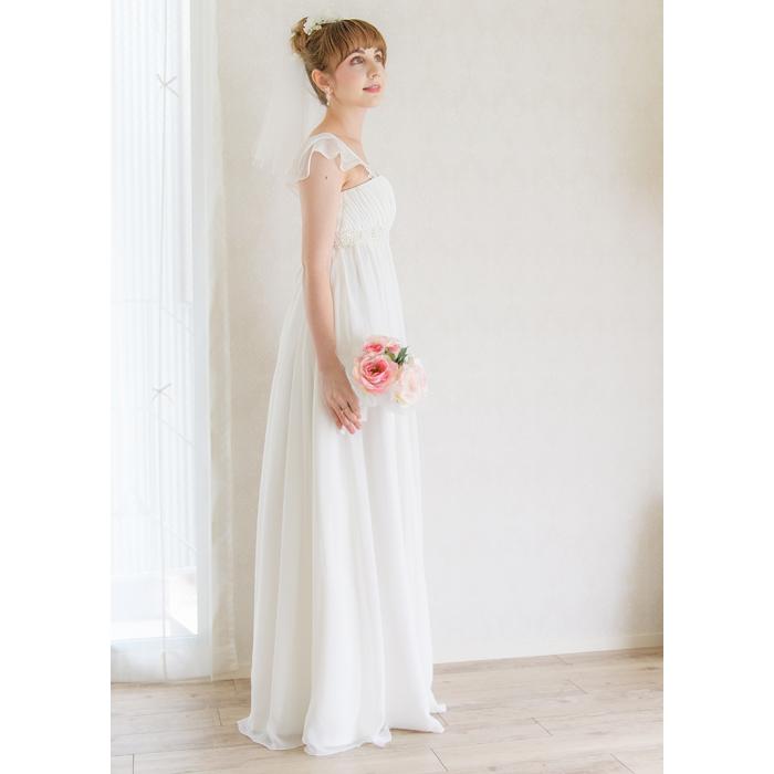 bab73aa263855 花嫁ドレス Aラインドレス 海外拳式用ウェディングドレス 花嫁ドレス 二次会ドレス マタニティ