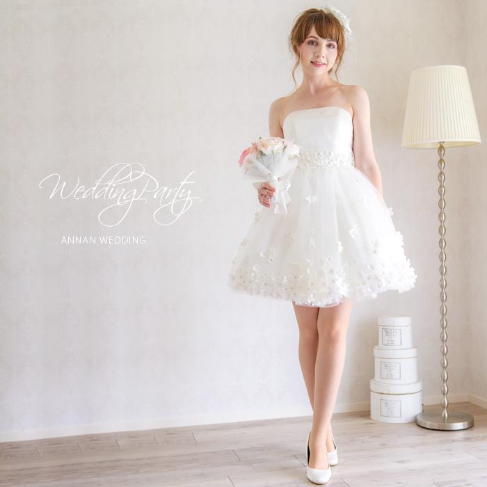 楽天市場 ウエディングドレス ミニ 花嫁 ミニドレス 花嫁 二次会 ドレス