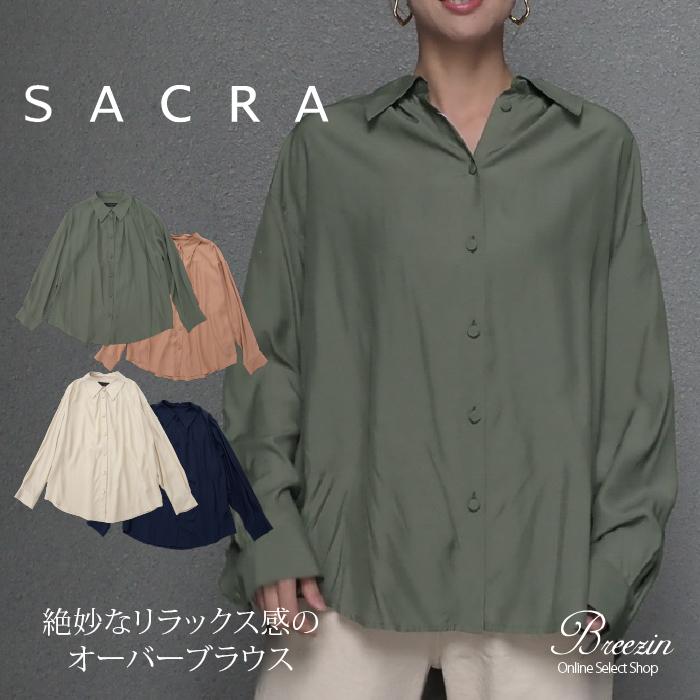 【SACRA/サクラ】レーヨンオーバーブラウス 119610031 Made in Japan 日本製 2019AW/Markdown5