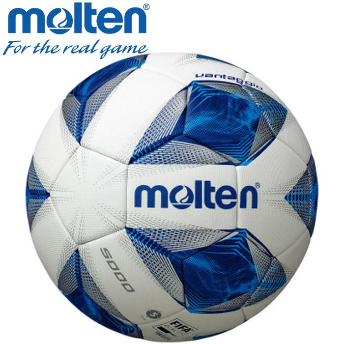 全品送料無料 一部地域 商品除く モルテン アウトレット☆送料無料 配送員設置送料無料 サッカーボール F5A5000 国際公認球 ヴァンタッジオ5000 ホワイト×ブルー 5号球