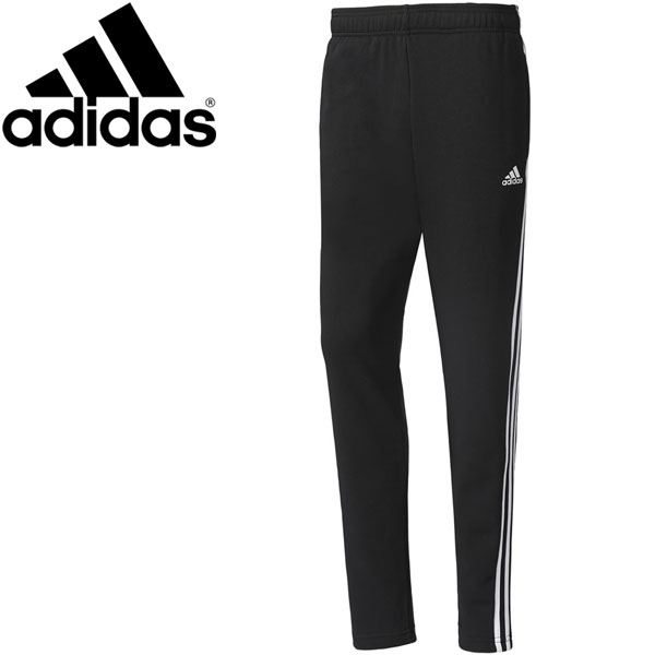 2c6bc4acb Adidas M ESSENTIALS 3 stripe sweat shirt tapered pants (fleece pile) men's  BWC92- ...
