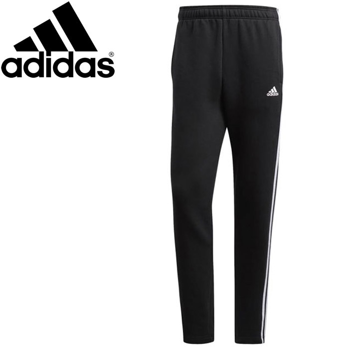 adidas Essentials 3 Stripe Track Pants BlackWhite