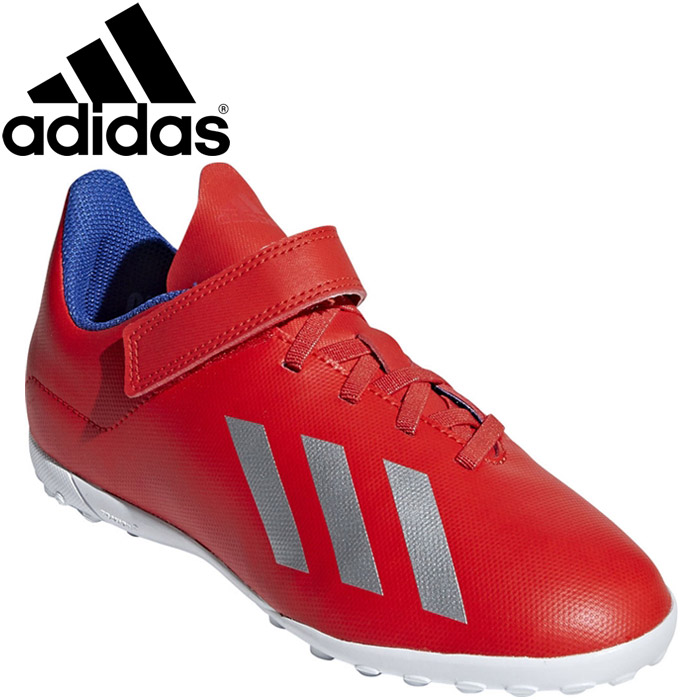 new style fa726 40c03 Adidas X 18.4 TF J Velcro soccer shoes youth DVF00-EE4347