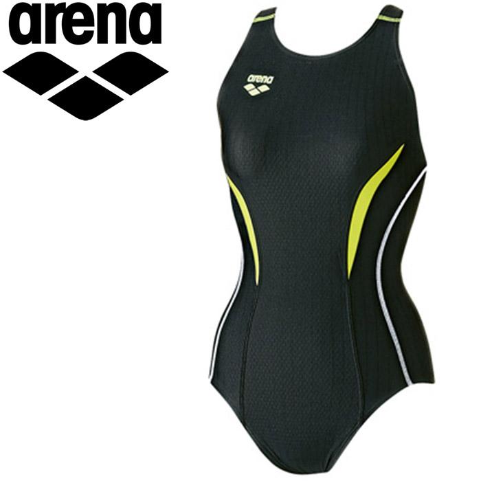 アリーナ 水泳 セイフリーバック 着やストラップ 水着 レディース ARN7051WE-BKKG