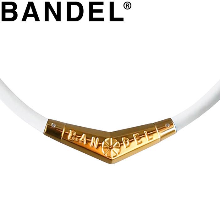 バンデル ネックレス Titanium Rubber Necklace White×Gold