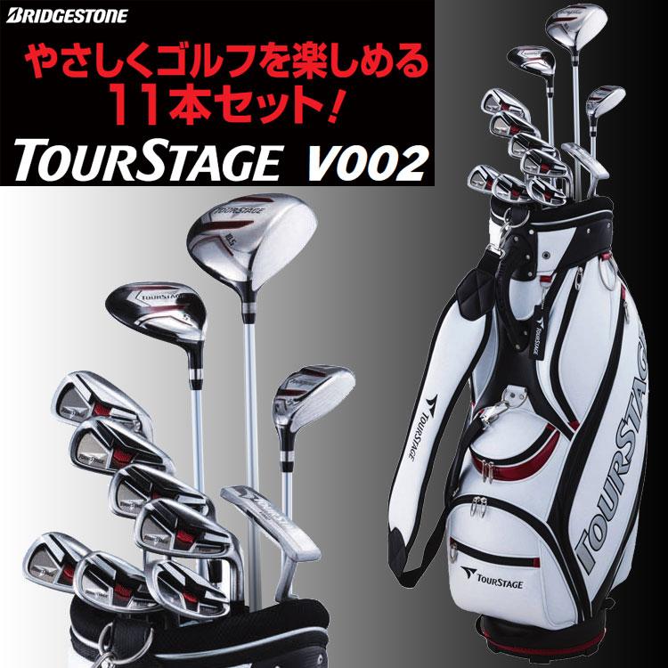 Bridgestone Tour stage V002 mens Golf set clubs 11 + golf bag