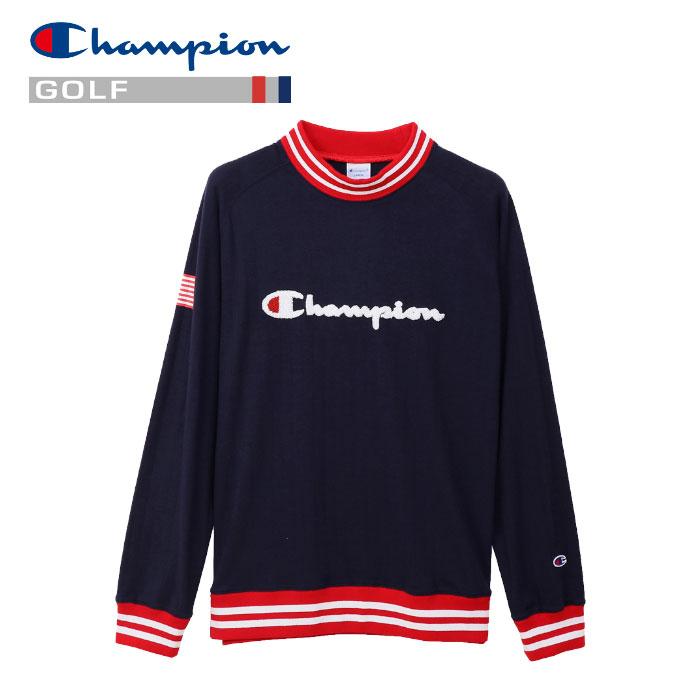 チャンピオン モックネック ロングスリーブTシャツ ゴルフ C3-PG401-370 メンズ 19SS