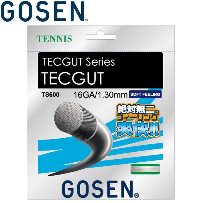 ゴーセン テニス 硬式テニスストリングス ガット TECGUT テックガット16ロール TS6001-w