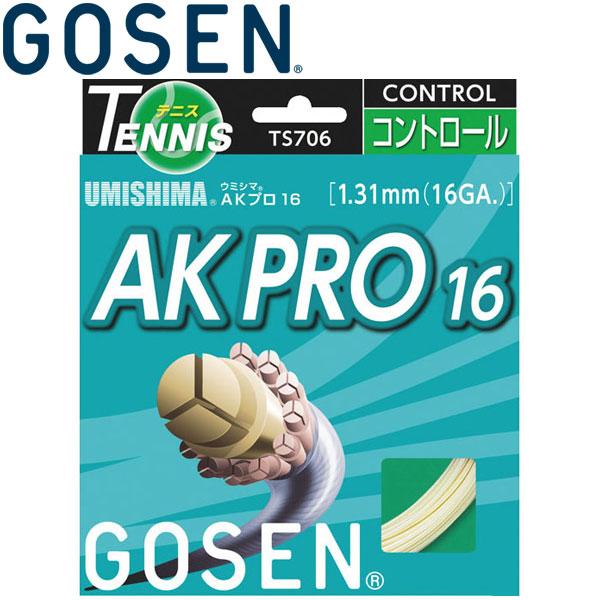 ゴーセン UMISHIMA AKプロ16 硬式テニスストリングス TS7062-90