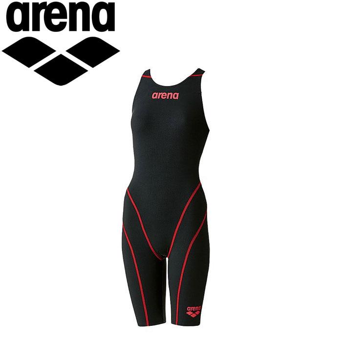 アリーナ 水泳 競泳水着 レーシング レディース ハーフスパッツオープンバック ARN7010W-BKBR