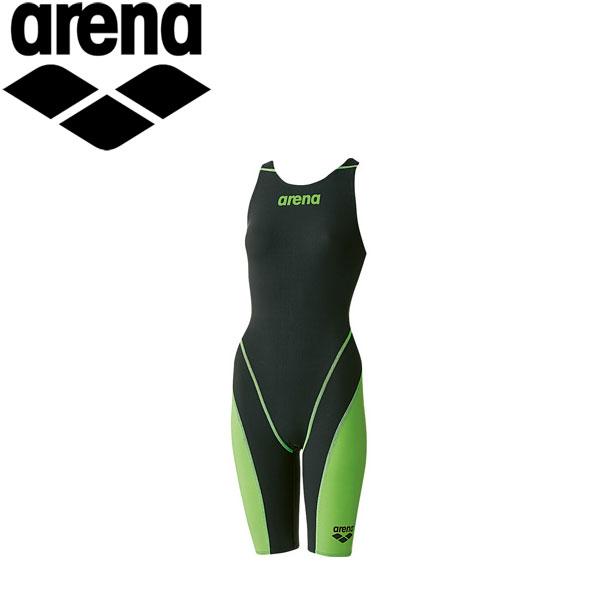 アリーナ 水泳 競泳水着 レーシング レディース ハーフスパッツオープンバック ARN7010W-BKLG