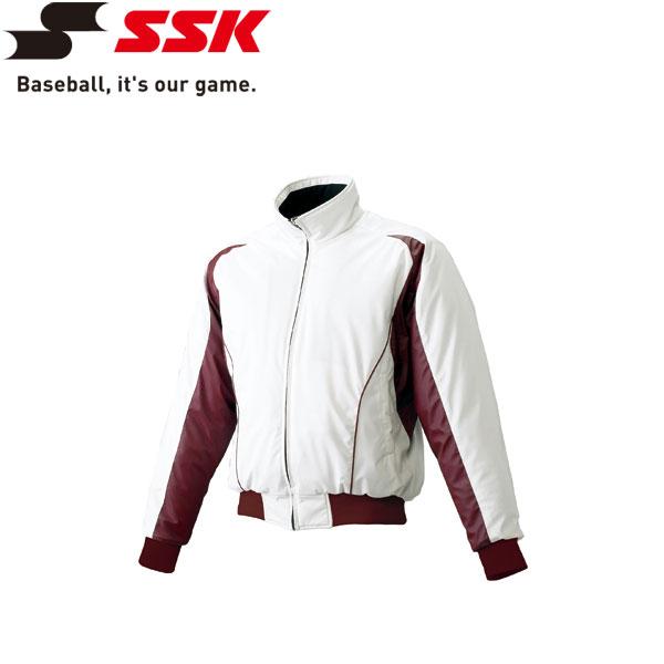 ○SSK(エスエスケイ) 野球 蓄熱グラウンドコート・フロントフルZIP・中綿 BWG1002-1022E