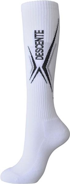 ◇Descente(Descente)排球2雙組高統襪女士DVB9744S2-WBK