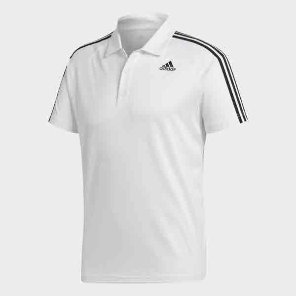 ○17SS adidas (Adidas) D2M training 3 stripe polo shirt BVA63-BK2602 men