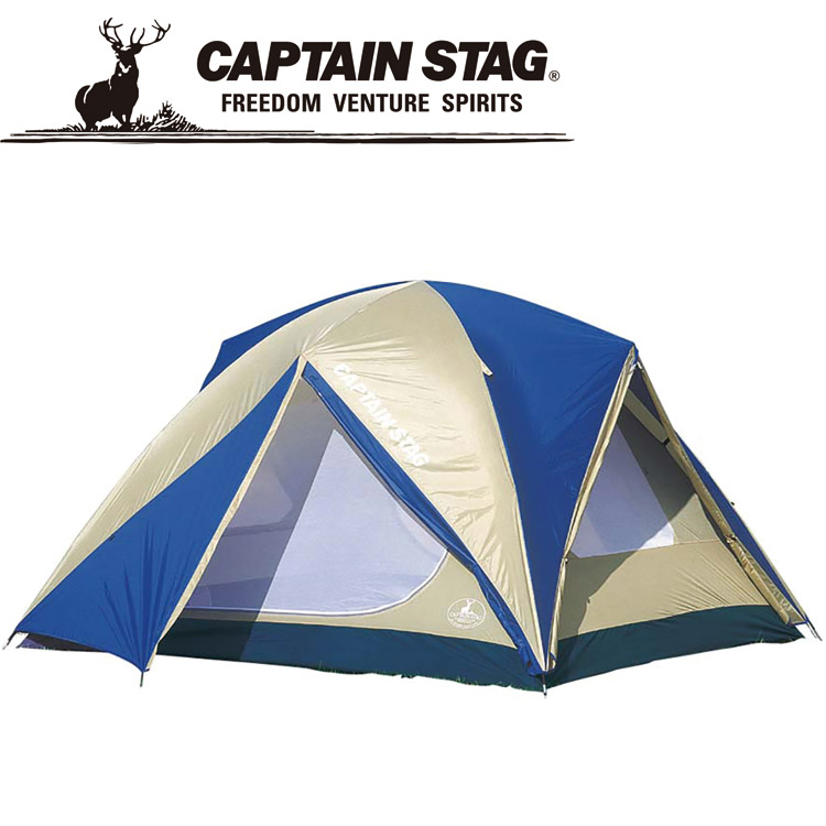 キャプテンスタッグ オルディナスクリーンドームテント〈6人用〉(キャリーバッグ付) M3118