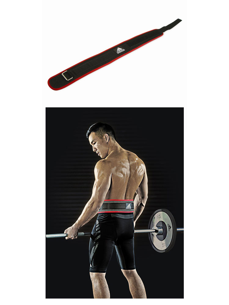 -Adidas (adidas) nylon weightlifting belt ADGB-12237-8-9 fitness training