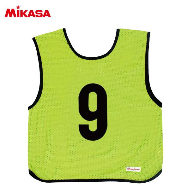 ミカサ ゲームジャケット ジュニア 10枚組 蛍光グリーン GJJ210-KG
