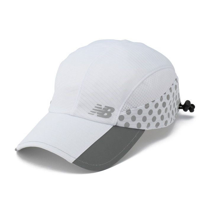 ○17SS New Balance (New Balance) Day or Night running cap JACR7020-WT Lady's