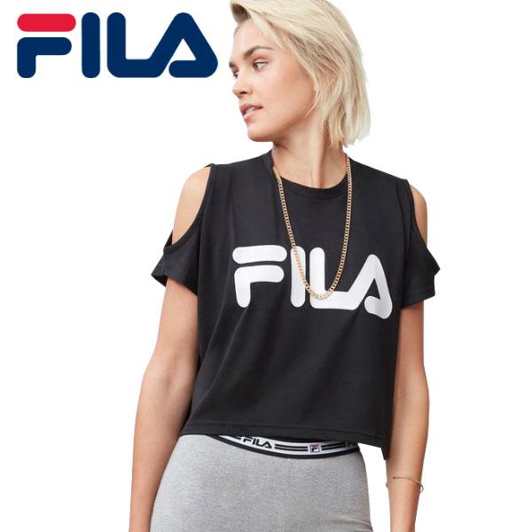 b9cbc718 Parallel import goods FILA Fila Nikki Crop Cold Shoulder Top Lady's T-shirt  LW173F95- ...