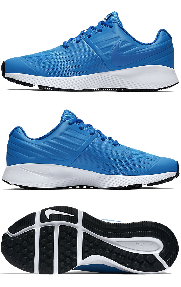 I achieve a performance by a design producing speed. The model that the Nike  star runner GS Boys running shoes were made for kids athlete. 900331f6d