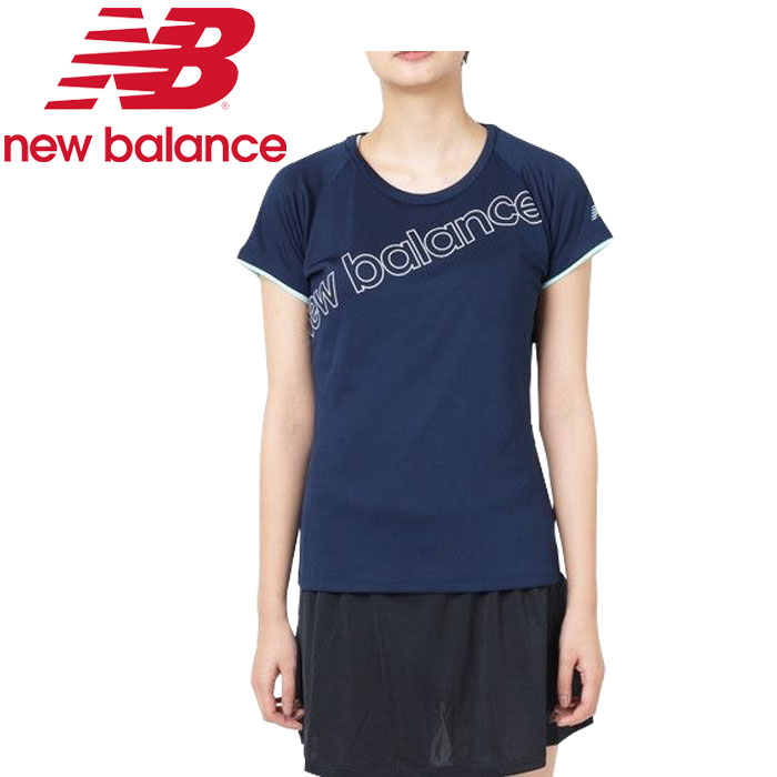 New Balance W layer DOS Reeve graphic short sleeve T-shirt JWTT9140-PGM  Lady's spring of 2019 summer