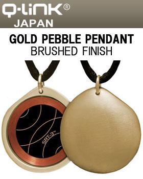 Q-Link(キューリンク) Gold Pebble(ペブル) ペンダント ゴールド ブラッシュ