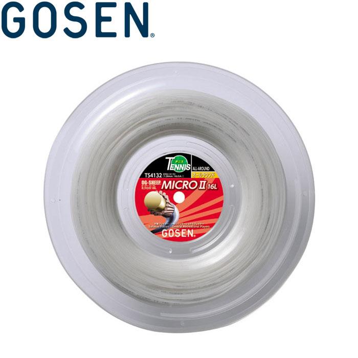 ゴーセン オージー・シープ ミクロ2 16L ロール 硬式テニス ガット ストリング TS4132W