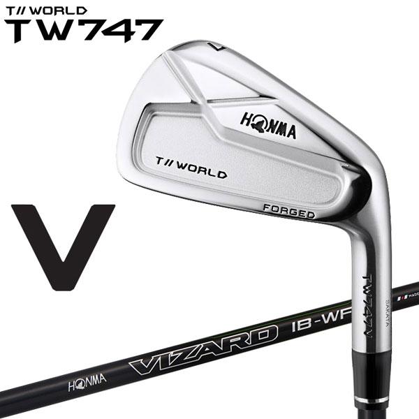ホンマ ゴルフ TW747 V アイアン 6本セット VIZARD IB-WF カーボン 2019モデル