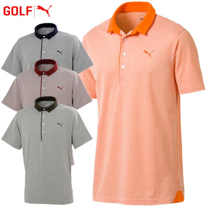 787541fd10 Puma golf wear men diamond jacquard polo shirt short sleeves 577588 2018  fall and winter