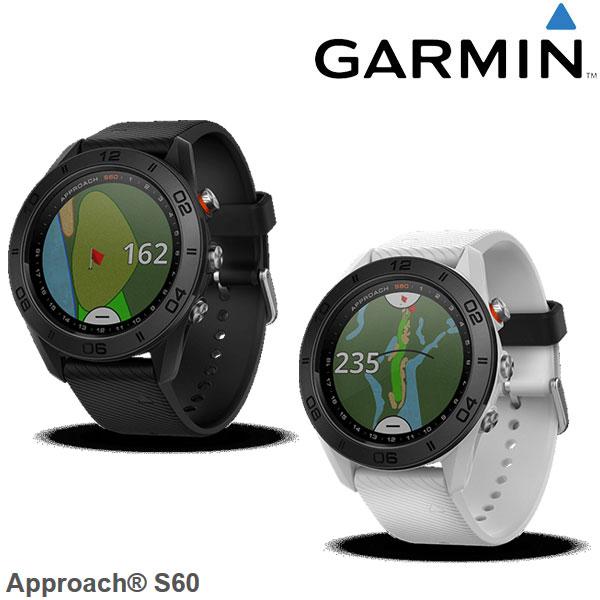 日本正規品 ガーミン GARMIN 腕時計型GPSゴルフナビ アプローチ60 ブラック/ホワイト Approach S60