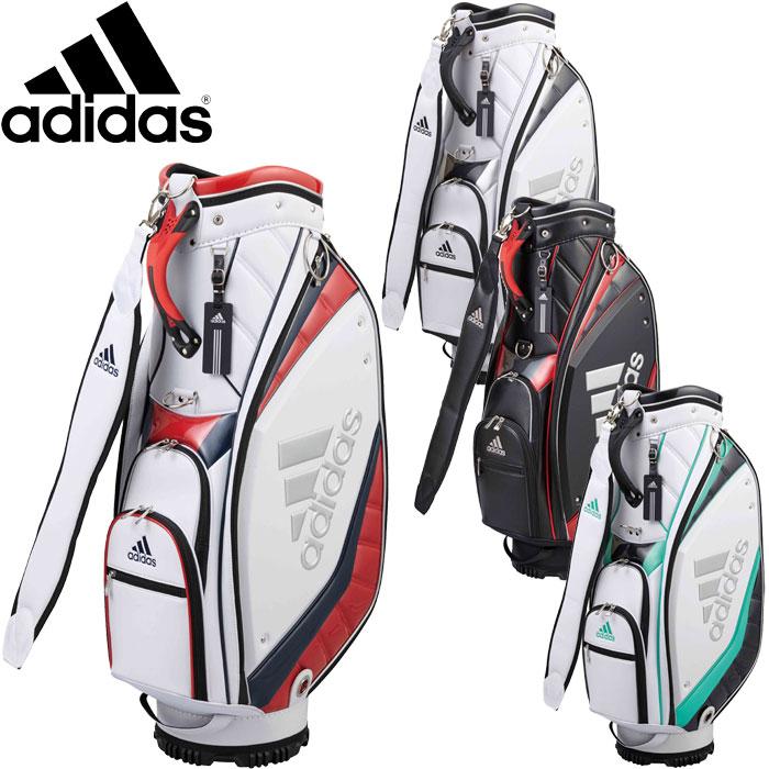 6f7c3021be annexsports  Adidas golf caddie bag silver logo AWU25 2018 model ...