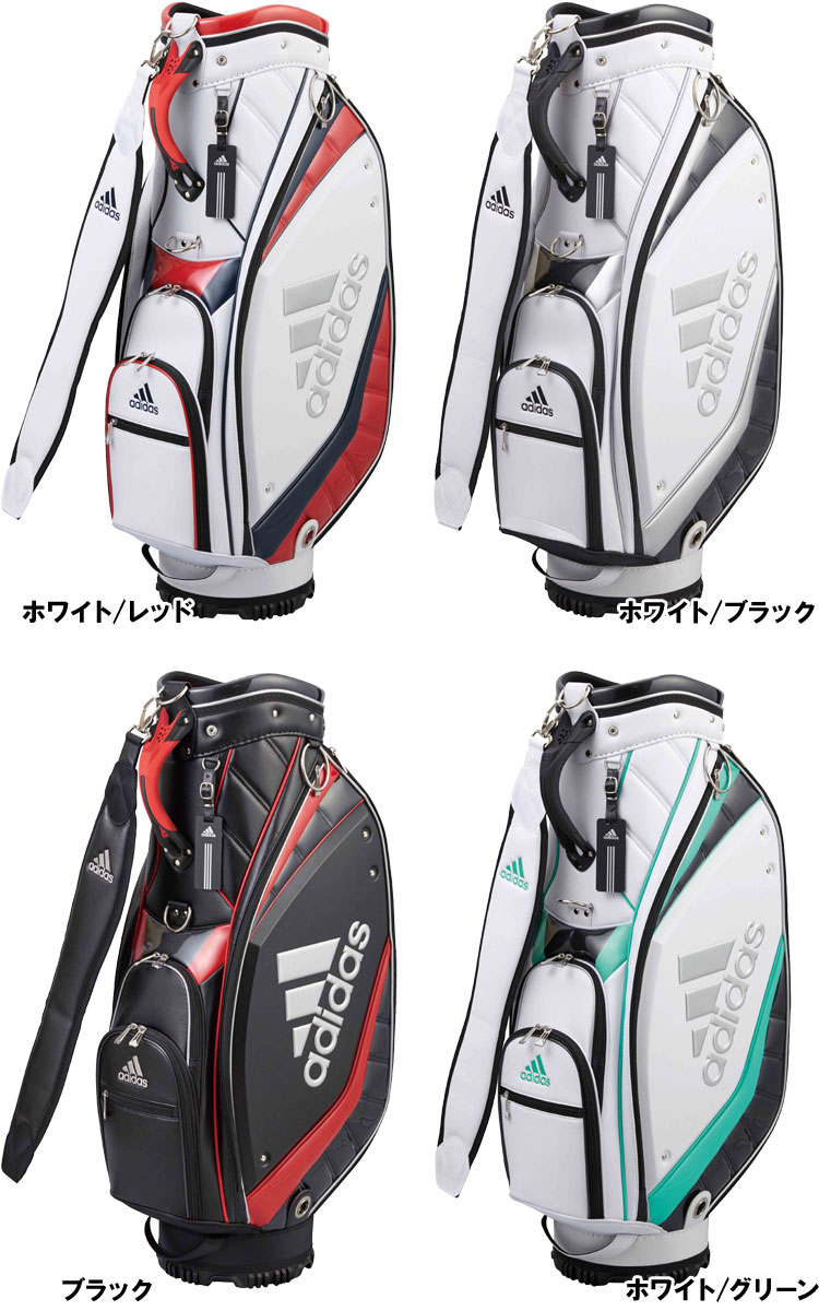 bcfe9a98e9 The caddie bag which designed a big logo of the silver to a side panel. It  is the bag sporty powerfully like the adidas brand.