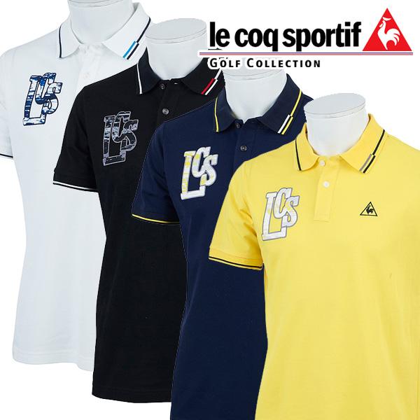 【クリアランスセール】 ルコックゴルフ ゴルフウェア メンズ 半袖ポロシャツ QGMLJA02 2018春夏
