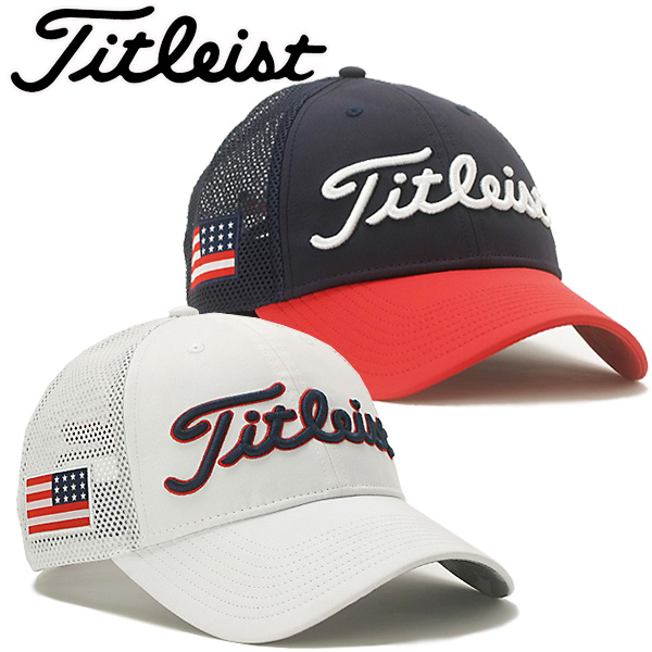 Titleist-limited US flag mesh cap HJ8CUP 2018 model Star-Spangled Banner  motif 8ee70792c580