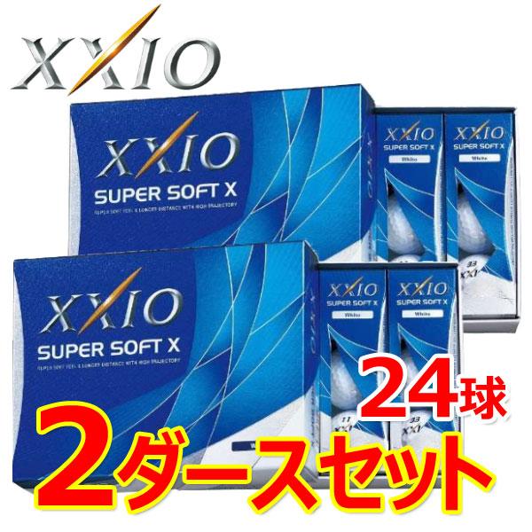 【2ダースセット】 ゼクシオ スーパーソフトX ゴルフボール SUPER SOFT X 2ダース(24P) 2017年モデル