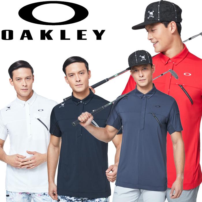 オークリー ゴルフウェア 半袖ポロシャツ SKULL REAR MESSAGE SHIRTS メンズ FOA400793 2020年モデル