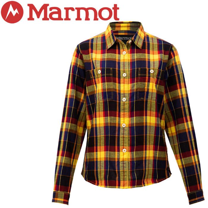 マーモット Ws T/C Linen L/S Shirt シャツ レディース TOWNJB75-YLCK
