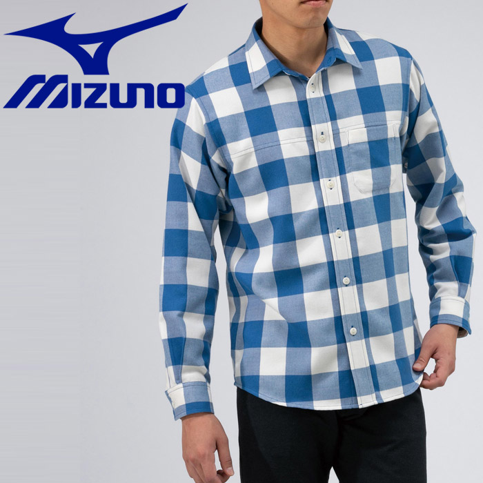 ミズノ アウトドア ブレスサーモ ウールトレイルシャツ メンズ B2MC950325