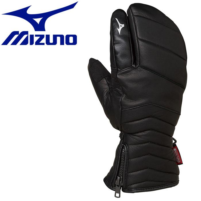 ★3,980円以上送料無料!(一部地域/商品除く) ミズノ ウインター Leather 3Finger Gloves グローブ Z2JY950209