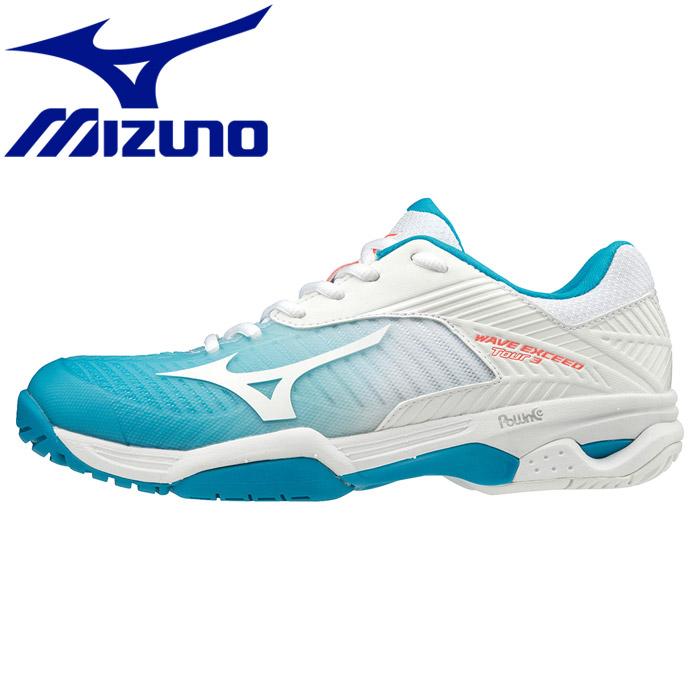 ミズノ ウエーブエクシード TOUR 3 AC テニスシューズ レディース 61GA187125