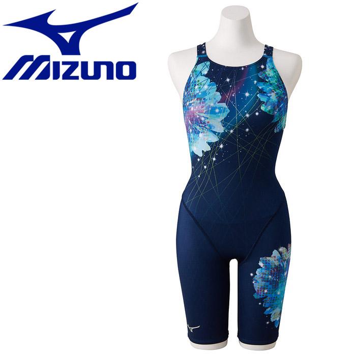 ミズノ ストリームアクティバ ハーフスーツ オープン 競技水着 レディース N2MG924782
