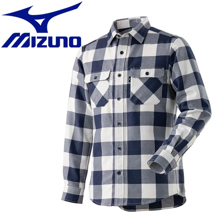ミズノ ブレスサーモ ウールトレイルシャツ メンズ A2MC850314