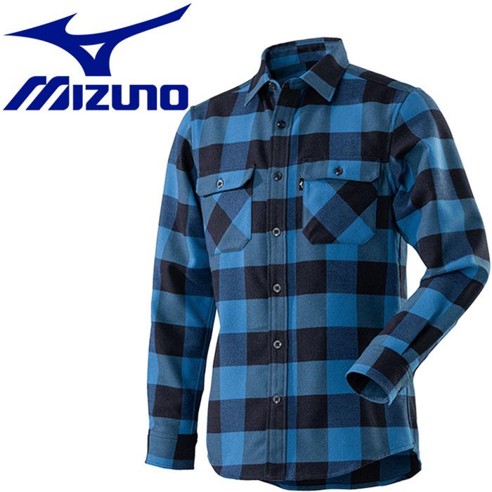 ミズノ ブレスサーモ ウールトレイルシャツ メンズ A2MC850325