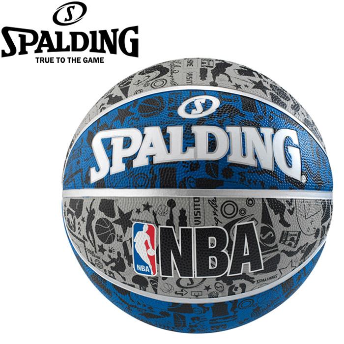 全品送料無料 一部地域 在庫一掃売り切りセール 商品除く お買得 スポルディング グラフィティ バスケットボール 83-678J ブルー