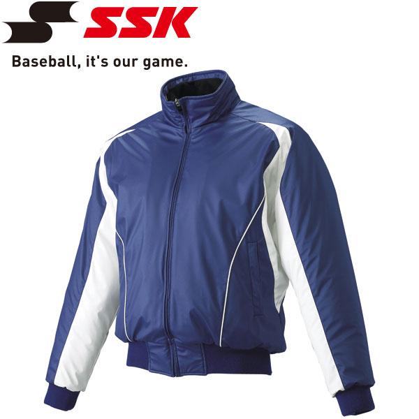 エスエスケイ SSK 野球 蓄熱グラウンドコート フロントフルZIP 中綿 メンズ・ユニセックス BWG1002-6310w