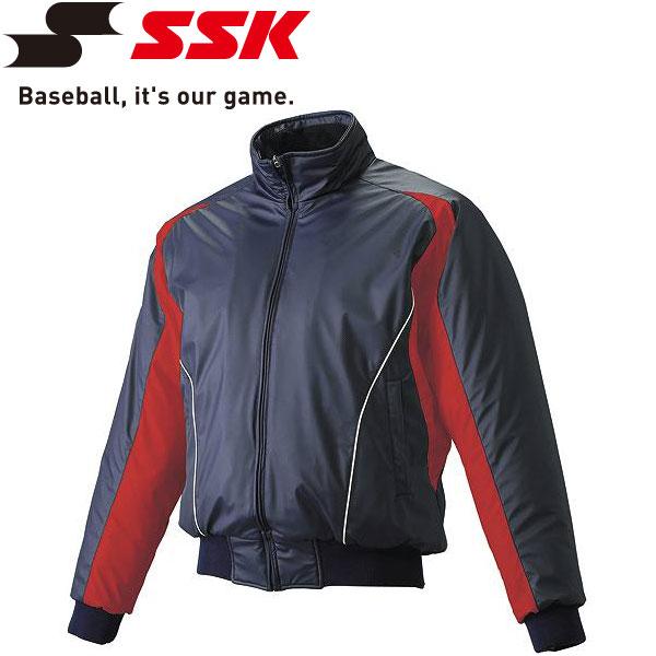 エスエスケイ SSK 野球 蓄熱グラウンドコート フロントフルZIP 中綿 ジュニア BWG1002J-7020w
