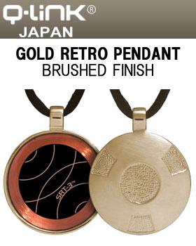 Q-Link(キューリンク) Gold Retro(レトロ) ペンダント ゴールド ブラッシュ