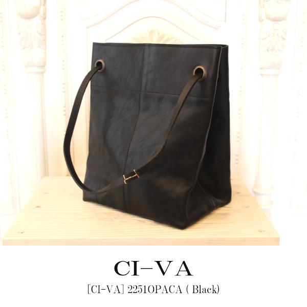 【送料無料】CI-VA,チーバ,新作,イタリア製,レザー,トートバッグ,鞄,2WAY,,革 ,レザー,2251OPACA ( black )
