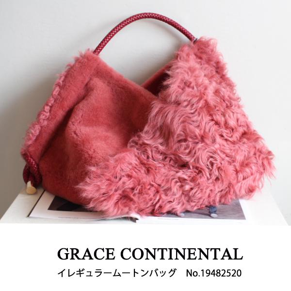 SALE セール19482520 GRACE CONTINENTAL イレギュラームートンバッグ グレースコンチネンタル BAG 19AW 送料無料SpzMVU